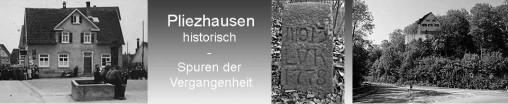 Banner der Seite Pliezhausen historisch