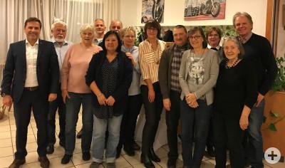 Das Partnerschaftskomitee Pliezhausen-Pays Mornantais zusammen mit Bürgermeister Christof Dold